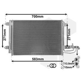 Kondensator, Klimaanlage Netzmaße: 550x390x16 mit OEM-Nummer 1K0 820 411G