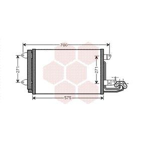 Kondensator, Klimaanlage Netzmaße: 545 - 385 - 16 mit OEM-Nummer 1K0 820 411 E