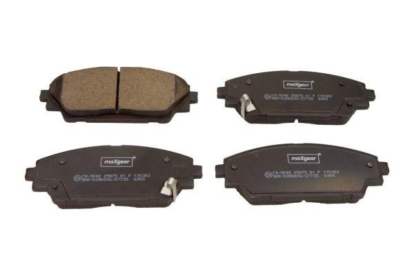 MAXGEAR  19-3048 Brake Pad Set, disc brake Width: 142,1mm, Height: 55,6mm, Thickness: 15,8mm