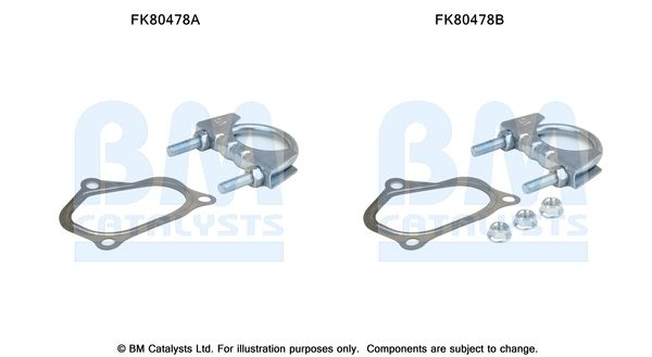 BM CATALYSTS  FK80478 Montagesatz, Katalysator