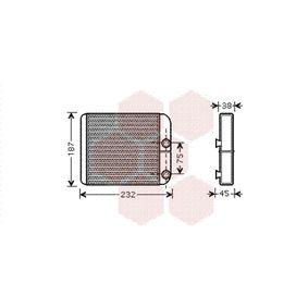 Wärmetauscher, Innenraumheizung Kupfer mit OEM-Nummer 30 824 478