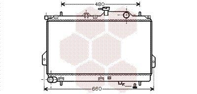VAN WEZEL  82002098 Radiador, refrigeración del motor