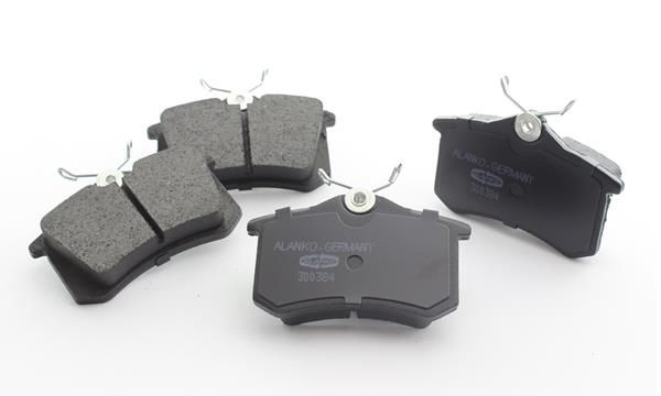 ALANKO  10300384 Brake Pad Set, disc brake Width 1: 87mm, Height 1: 52,9mm, Thickness 1: 16,4mm