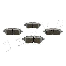 Brake Pad Set, disc brake 500089 FIESTA 6 1.6 Ti MY 2015