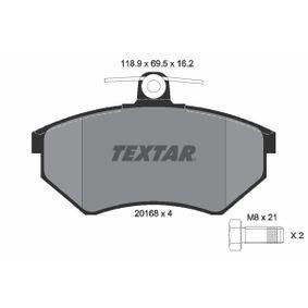Bremsbelagsatz, Scheibenbremse Breite: 118,9mm, Höhe: 69,5mm, Dicke/Stärke: 16,2mm mit OEM-Nummer 357.698.151D
