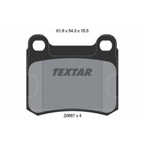 Bremsbelagsatz, Scheibenbremse Breite: 61,8mm, Höhe: 54,3mm, Dicke/Stärke: 15,5mm mit OEM-Nummer 000.420.98.20