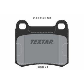 TEXTAR  2068703 Bremsbelagsatz, Scheibenbremse Breite: 61,8mm, Höhe: 54,3mm, Dicke/Stärke: 13,5mm