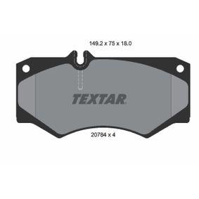 Kit de plaquettes de frein, frein à disque Essieu avant 2078401