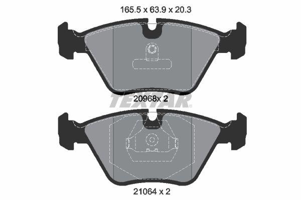 TEXTAR  2096801 Bremsbelagsatz, Scheibenbremse Breite: 156,5mm, Höhe: 63,9mm, Dicke/Stärke: 20,3mm