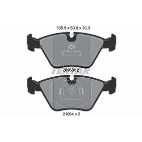 Bremsbelagsatz, Scheibenbremse Breite: 156,5mm, Höhe: 63,9mm, Dicke/Stärke: 20,3mm mit OEM-Nummer 34112282416