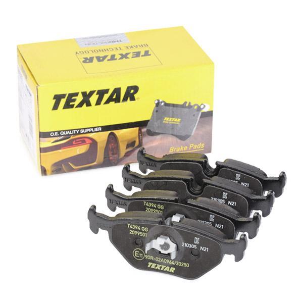 TEXTAR  2099501 Bremsbelagsatz, Scheibenbremse Breite: 123,2mm, Höhe: 44,9mm, Dicke/Stärke: 17,3mm