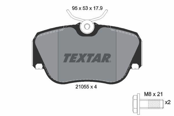 TEXTAR  2105503 Bremsbelagsatz, Scheibenbremse Breite: 95mm, Höhe: 53mm, Dicke/Stärke: 17,9mm