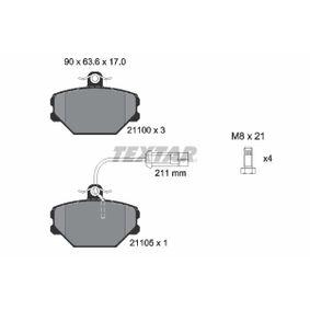 TEXTAR  2110005 Bremsbelagsatz, Scheibenbremse Breite: 90mm, Höhe: 63,6mm, Dicke/Stärke: 17mm