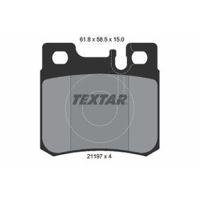 Bremsbelagsatz, Scheibenbremse Breite: 62,6mm, Höhe: 58,5mm, Dicke/Stärke: 15mm mit OEM-Nummer 001.420.95.20