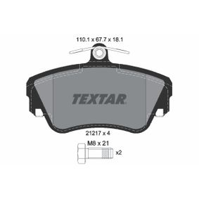 Brake Pad Set, disc brake Width: 110,1mm, Height: 67,7mm, Thickness: 18,1mm with OEM Number 3344 787