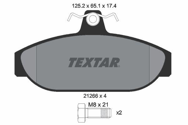 TEXTAR  2126601 Bremsbelagsatz, Scheibenbremse Breite: 125,2mm, Höhe: 65,1mm, Dicke/Stärke: 17,4mm