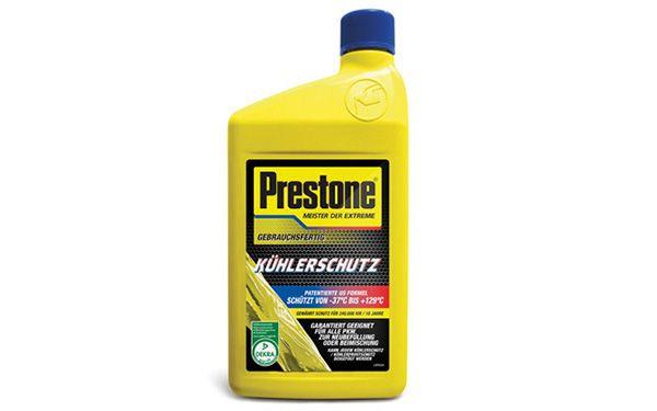 Prestone  AF2100LD Antifreeze Temperature range from: -37°C