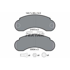 Bremsbelagsatz, Scheibenbremse Art. Nr. 2157302 120,00€