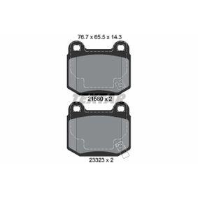 Bremsbelagsatz, Scheibenbremse 2158001 IMPREZA Schrägheck (GR, GH, G3) 2.5 STI CS400 AWD Bj 2013