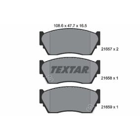 Bremsbelagsatz, Scheibenbremse Breite: 108,6mm, Höhe: 47,7mm, Dicke/Stärke: 16,5mm mit OEM-Nummer 4106050-Y90