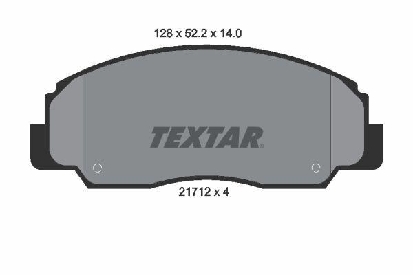 TEXTAR  2171201 Bremsbelagsatz, Scheibenbremse Breite: 128mm, Höhe: 52,2mm, Dicke/Stärke: 14mm