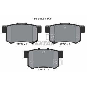TEXTAR  2171901 Bremsbelagsatz, Scheibenbremse Breite: 89mm, Höhe: 47,5mm, Dicke/Stärke: 14,6mm