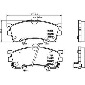 TEXTAR  2175501 Bremsbelagsatz, Scheibenbremse Breite: 132mm, Höhe: 51,5mm, Dicke/Stärke: 16,5mm