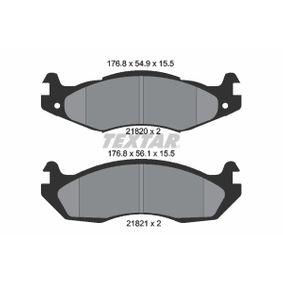 TEXTAR  2182001 Bremsbelagsatz, Scheibenbremse Breite: 176,8mm, Höhe 1: 54,9mm, Höhe 2: 56,1mm, Dicke/Stärke: 15,5mm