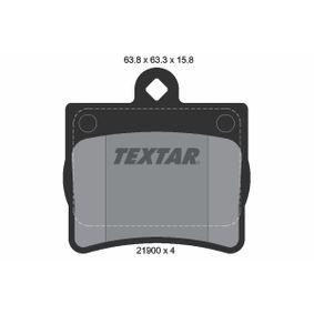 Bremsbelagsatz, Scheibenbremse Breite: 62,3mm, Höhe: 63,3mm, Dicke/Stärke: 15,8mm mit OEM-Nummer A00 242 05 120