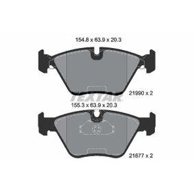 BMW E39 Touring 523i Bremsbeläge TEXTAR 2199003 (523i 2.5 Benzin 1999 M52 B25 (256S4))