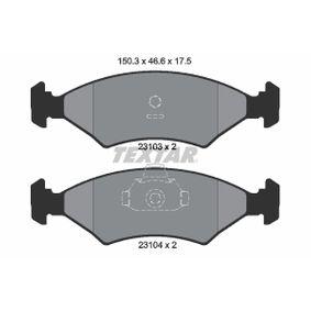 Bremsbelagsatz, Scheibenbremse Breite: 150,3mm, Höhe: 46,6mm, Dicke/Stärke: 17,5mm mit OEM-Nummer 1 010 503