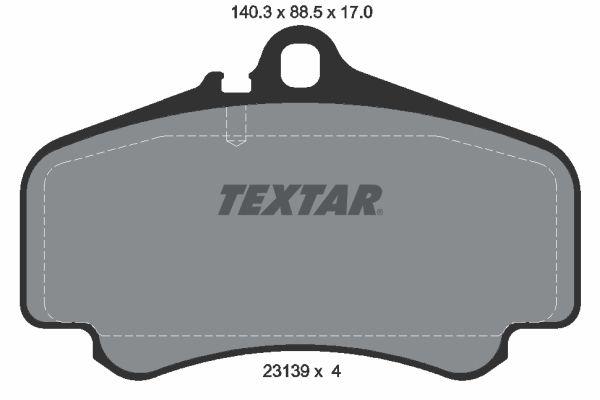 TEXTAR  2313901 Bremsbelagsatz, Scheibenbremse Breite: 140,3mm, Höhe: 88,5mm, Dicke/Stärke: 17mm