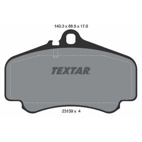 Bremsbelagsatz, Scheibenbremse Breite: 140,3mm, Höhe: 88,5mm, Dicke/Stärke: 17mm mit OEM-Nummer 996.351.949.12