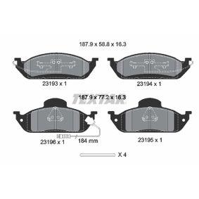 Bremsbelagsatz, Scheibenbremse Breite: 187,9mm, Höhe 1: 77,2mm, Höhe 2: 58,8mm, Dicke/Stärke: 16,3mm mit OEM-Nummer A 163 420 03 20