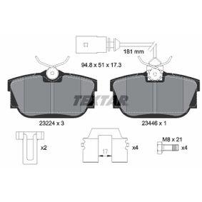 Bremsbelagsatz, Scheibenbremse Breite: 94,8mm, Höhe: 51mm, Dicke/Stärke: 17,3mm mit OEM-Nummer 701 698 451C