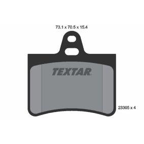 TEXTAR  2330501 Bremsbelagsatz, Scheibenbremse Breite: 73,1mm, Höhe: 70,5mm, Dicke/Stärke: 15,4mm