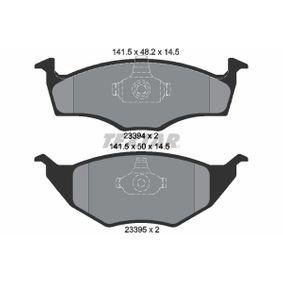 TEXTAR  2339402 Bremsbelagsatz, Scheibenbremse Breite 1: 141,5mm, Höhe 1: 50mm, Höhe 2: 48,2mm, Dicke/Stärke: 14,5mm