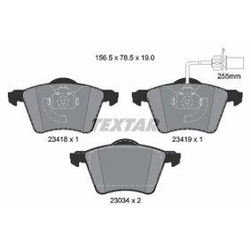 TEXTAR  2341801 Bremsbelagsatz, Scheibenbremse Breite: 156,5mm, Höhe: 78,5mm, Dicke/Stärke: 19,6mm