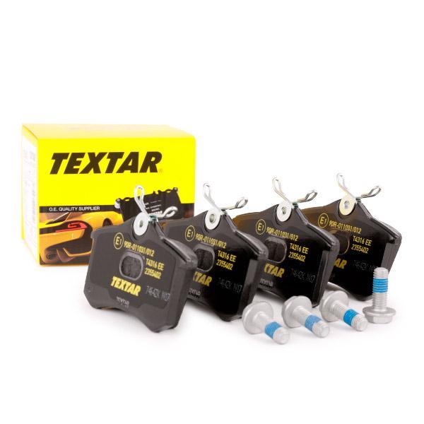 Pastillas de freno de disco TEXTAR 7773D894 conocimiento experto