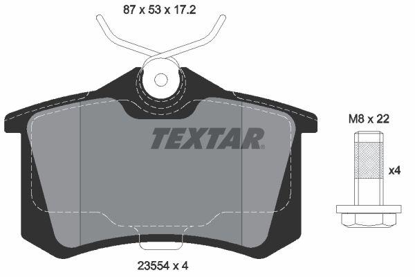 Jogo de pastilhas para travão de disco TEXTAR 7335D340 4019722265587