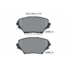 Brake Pad Set, disc brake 2358501 RAV 4 II (CLA2_, XA2_, ZCA2_, ACA2_) 2.0 MY 2001