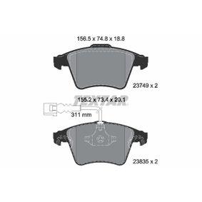 Bremsbelagsatz, Scheibenbremse Art. Nr. 2374901 120,00€