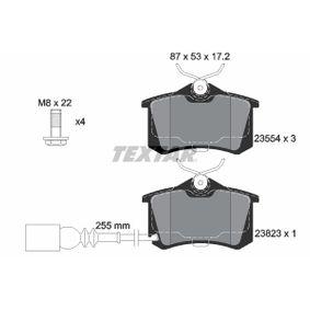 Bremsbelagsatz, Scheibenbremse Breite: 87mm, Höhe: 53mm, Dicke/Stärke: 17,2mm mit OEM-Nummer JZW 698 451 F