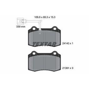Bremsbelagsatz, Scheibenbremse Breite: 109,8mm, Höhe: 69,3mm, Dicke/Stärke: 15mm mit OEM-Nummer 1ML698151