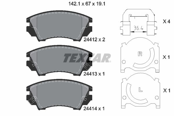 Article № 8769D1557 TEXTAR prices