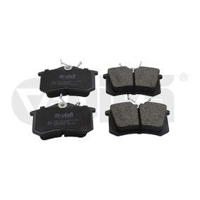 Jogo de pastilhas para travão de disco Largura: 87mm, Altura: 52,6mm, Espessura: 17,2mm com códigos OEM 1J0-698-451-S