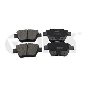 Bremsbelagsatz, Scheibenbremse Breite: 109,5mm, Höhe: 53,3mm, Dicke/Stärke: 16,2mm mit OEM-Nummer 5K0698451A