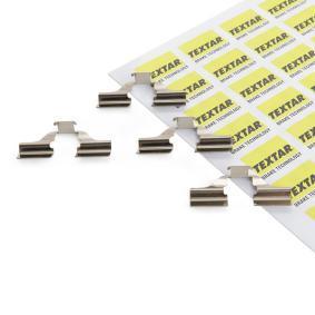 TEXTAR Zubehörsatz, Scheibenbremsbelag 82037300 für AUDI 100 (44, 44Q, C3) 1.8 ab Baujahr 02.1986, 88 PS