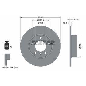 Bremsscheibe Bremsscheibendicke: 12mm, Ø: 286mm mit OEM-Nummer 6 757 750