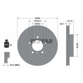 Bremsscheibe Bremsscheibendicke: 22mm, Ø: 286mm mit OEM-Nummer 6 864 060